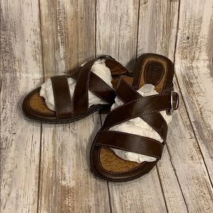 Boc Brown Leather Strappy Sandals Women's Size 6